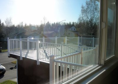 White Railing Fascia Posts