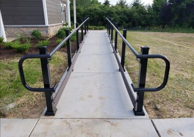 Madden ADA Handrail, Square Posts, Hammered Black3