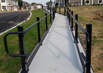 Madden ADA Handrail, Square Posts, Hammered Black4